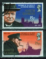 South Georgia 1974 Set Of Stamps To Celebrate The Birth Centenary Of Winston Churchill In Fine Used Condition. - South Georgia