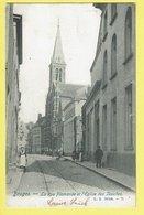* Brugge - Bruges (West Vlaanderen) * (L.L. Brux, Nr 71) La Rue Flamande Et L'église Des Jésuites, Animée, Kerk, Tramway - Brugge