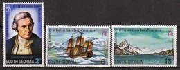 South Georgia 1975 Set To Celebrate Possession By Captain Cook In Unmounted Mint Condition. - South Georgia