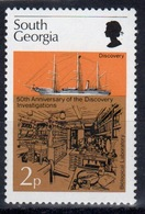South Georgia 1976 2p Stamp To Celebrate Discovery Investigations In Unmounted Mint Condition. - South Georgia