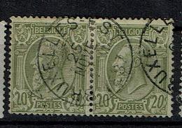47 Paire  Obl BXl-Est  + 4 - 1884-1891 Léopold II