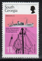 South Georgia 1976 11p Stamp To Celebrate Discovery Investigations In Unmounted Mint Condition. - South Georgia