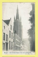 * Brugge - Bruges (West Vlaanderen) * (L.L. Brux, Nr 34) Rue Du Saint Esprit, Tour De La Cathédrale, TOP, Unique, Rare - Brugge