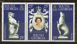 South Georgia 1978 Set Of Stamps To Celebrate 25th Anniversary Of The Coronation In Unmounted Mint Condition. - South Georgia