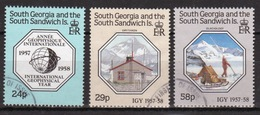 South Sandwich Islands 1987 Set Of Stamps To Celebrate International Geophysical Year In Fine Used Condition. - South Georgia