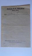 P1009.23  Diamalt A.G. München  -Werk Allach   Old Paper Item - Facturas & Documentos Mercantiles