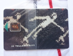 N 13b ,Skating ,winter Olympic 1994 , SI5 Chip, Norway, Unused In Blister - Norway