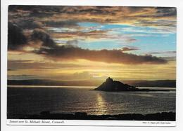 Sunset Over St. Michaels Mount, Cornwall - John Hinde - St Michael's Mount
