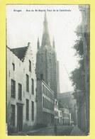 * Brugge - Bruges (West Vlaanderen) * (nr 34) Rue Du Saint Esprit, Tour De La Cathédrale, Animée, église, Kerk, TOP - Brugge