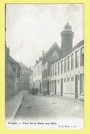 * Brugge - Bruges (West Vlaanderen) * (L.L. Brux, Nr 35) Tour De La Halle Aux Blés, Animée, Straatzicht, Rare, Unique - Brugge