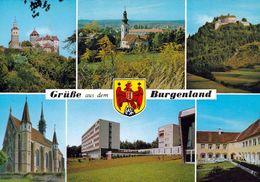 1 AK Burgenland * Grüße Aus Dem Burgenland U.a. Die Burgen Schlaining Und Bernstein Und Das Schloß Jormannsdorf * - Österreich