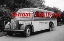 Reproduction D'une Photographie Ancienne D'une Vue De Profil D'un Ancien Bus Citroen - Reproductions