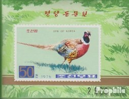 North-Korea Block25B (complete.issue.) Unmounted Mint / Never Hinged 1976 Pheasants - Korea, North