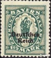 Deutsches Reich 131 Postfrisch 1920 Bayern-Abschied - Unused Stamps