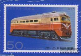 North-Korea 1561B (complete Issue) Unmounted Mint / Never Hinged 1976 Locomotives - Korea, North