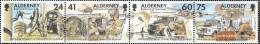 United Kingdom - Alderney 90-93 Quad Strip (complete Issue) Unmounted Mint / Never Hinged 1996 Telecommunications Regime - Alderney