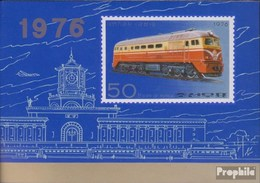 North-Korea Block32B (complete Issue) Unmounted Mint / Never Hinged 1976 Locomotives - Korea, North