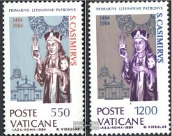 Vatikanstadt 846-847 (complete Issue) Unmounted Mint / Never Hinged 1984 Holy. Kasimir - Vatican