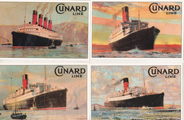 Cunard Line - England 22 Uncirculated Postcards - Marine Art Posters 1990 - Publicité
