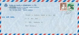 Japan Air Mail Cover Sent To Germany 1982 - Airmail