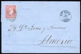 1858. GIBRALTAR. SPAIN. CLASSIC COVER TO ALMERIA BY SAN ROQUE. - Gibraltar