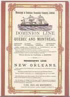 Dominion Line Poster Mid 1870s - England Uncirculated Postcard - Beric Tempest Colourcard - Werbepostkarten