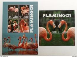 St.Vincent 2015** Klb.7593-96 + Bl.818. Flamingos MNH [18;76] - Flamingo