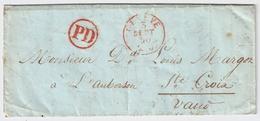 "1850, "" GENEVE "" U. Selt. "" PD ""  , #a368 - ...-1845 Prefilatelia"