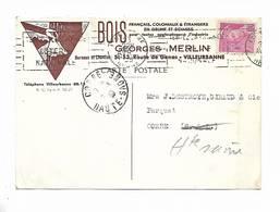 69 - Carte  Postale Commerciale Des Ets Georges MERLIN à Villeurbanne ( Rhône )    Pour Corre ( 70 ) - Villeurbanne