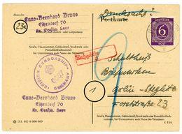 Nr. 916 EF Postkarte Mit Nachgebühr + Zensurstempel - Gemeinschaftsausgaben