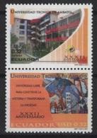 Ecuador (2001) Yv. 1546/47  /  University  - Universidad - Universite - Ecuador