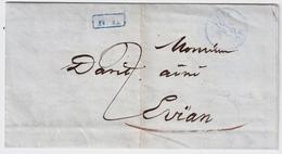 "1852, "" GENEVE "", Blauer Ra. "" R.L. "" , #a373 - ...-1845 Prefilatelia"