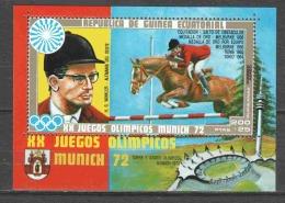 Equat. Guinea 1972 Mi Block 13 MNH SUMMER OLYMPICS - HORSES - Paarden
