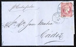 1859. GIBRALTAR. CLASSIC COVER TO CÁDIZ BY SAN ROQUE. - Gibraltar