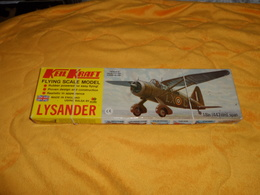 MAQUETTE AVION ANGLAISE. / KEIL KRAFT FLYING SCALE MODEL LYSANDER. / 18 INN 447 MM SPAN. AVEC NOTICE. A MONTER. - Airplanes & Helicopters