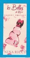 Cartes Parfumées  Carte LES BELLES DE RICCI CHERRY FANTASY NINA RICCI - Cartes Parfumées