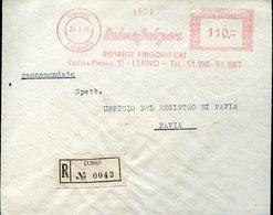 35098 Italia, Red Meter/freistempel/ema/1958 Luino, Luinofrigor Impianti Frigoriferi - Marcophilie - EMA (Empreintes Machines)