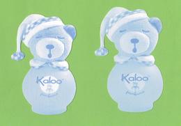 Cartes Parfumées  CARTES  KALOO PARFUMS 2 OURS 2 BLEUS CLAIR DIFFÉRENTS ET ÉPAISSISSEUR PAPIERS DIFFÉRENTES - Modern (from 1961)