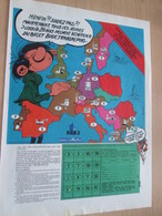 CLI518 : Pour Fans De GASTON LAGAFFE : Page PUB A4 Tirée De Spirou Années 60/70 Avec Dessin Non Repris Dans Les Albums - Gaston