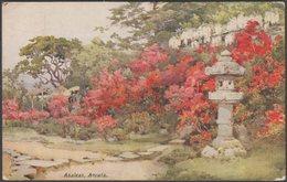 Azaleas, Awata Jinja Shrine, Kyoto, 1925 - A & C Black Postcard - Kyoto