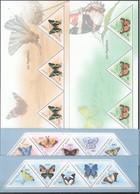 F627 2011 REPUBLIQUE DE GUINEE FAUNA INSECTS BUTTERFLIES 4KB MNH - Schmetterlinge