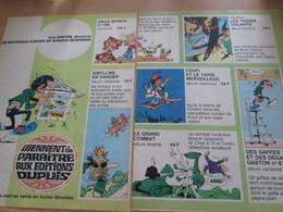 CLI518 : Pour Fans De GASTON LAGAFFE : Dble Page PUB A4 Tirée De Spirou Années 60/70 Dessin Non Repris Dans Les Albums - Gaston