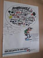 CLI518 : Pour Fans De GASTON LAGAFFE :  Page PUB A4 Tirée De Spirou Années 60/70 Dessin Non Repris Dans Les Albums - Gaston