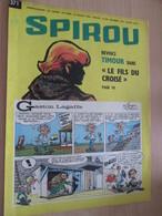 CLI518 : Pour Fans De GASTON LAGAFFE : COUVERTURE A4 Spirou Années 60 Avec Gag + TIMOUR - Gaston