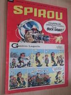 CLI518 : Pour Fans De GASTON LAGAFFE : COUVERTURE A4 Spirou Années 60 Avec Gag + BUCK DANNY - Gaston
