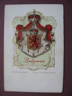 CPA Précurseur HERALDIQUE BLASON ARMOIRIES Belles Qualités Dessin Dorures Brillante BULGARIE BULGARIEN - Bulgarie