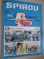 CLI518 : Pour Fans De GASTON LAGAFFE : COUVERTURE A4 Spirou Années 60 Avec Gag + MAX L'EXPLORATEUR - Gaston
