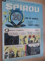 CLI518 : Pour Fans De GASTON LAGAFFE : COUVERTURE A4 Spirou Années 60 Avec Gag + LUCKY LUKE - Gaston