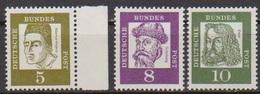 BRD 1961 MiNr.347,349x,350x ** Postfr.Bedeutende Deutsche ( 6842 )günstige Versandkosten - BRD