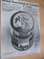 CLI518 : Pour Fans De MARSUPILAMI : Page PUB A4 Spirou Années 60/70  TONIMALT - Marsupilami